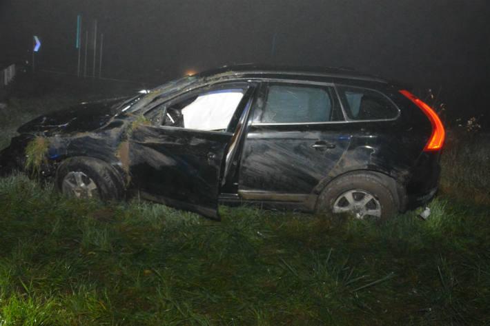 Der Lenker verlor die Kontrolle über den Volvo.