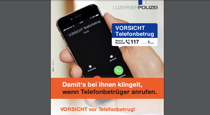 Falsche Polizisten wurden im Kanton Luzern gefasst.