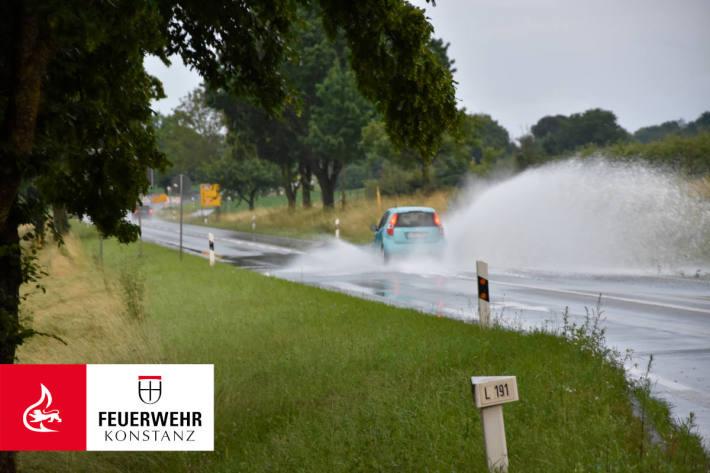 Starkregen sorgt für über 40 Einsätze bei Konstanz