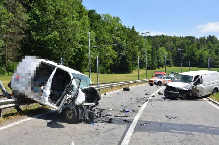 In Frauenfeld TG kam es heute zu einem schweren Unfall.
