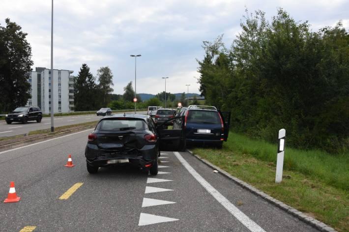 In Oberbüren SG kam es gestern zu einer Auffahrkollision zwischen Autos.