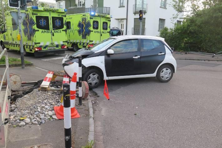 Beim Unfall von gestern in Allschwil BL, verletzten sich zwei Personen.