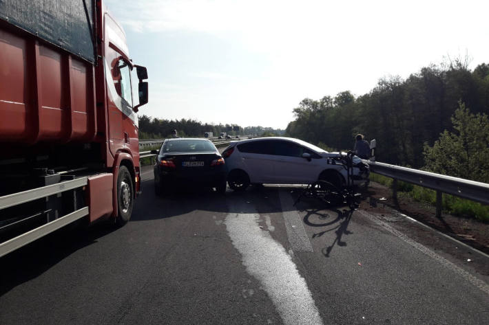 Unfall bei Auffahrt auf die Autobahn A6 bei Ramstein-Miesenbach