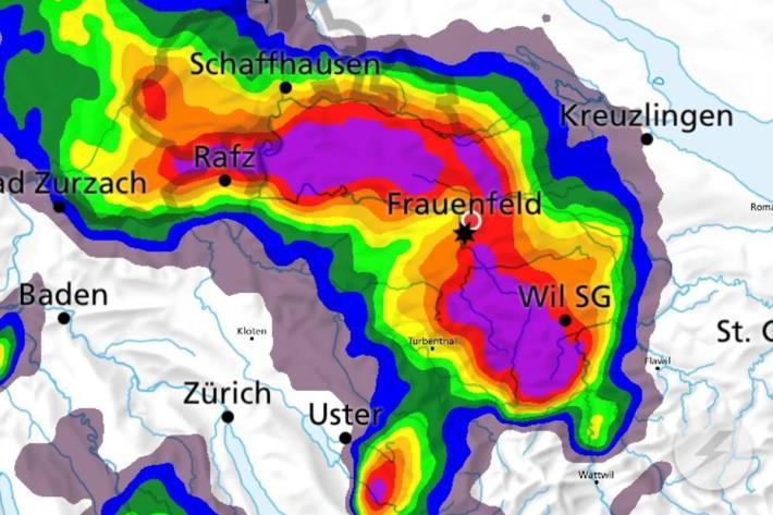 Heftige Gewitter erfassten gestern auch den Kanton Thurgau.