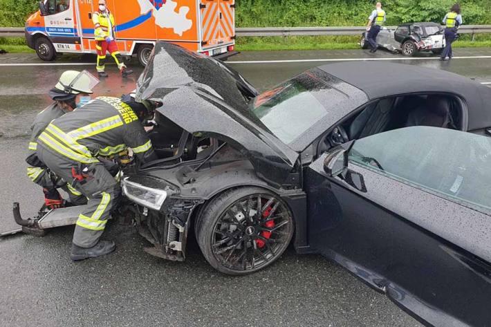 Verkehrsunfall auf der A1 in Gevelsberg