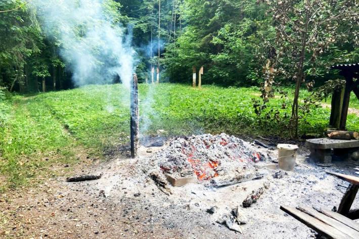 Brandschaden am Grillplatz in Mettlen