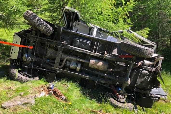 Beim Unfall gestern in Visperterminen hatte der Lenker keine Chance.