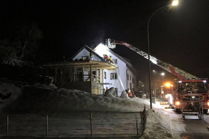 In Schleitheim SH brannte gestern ein Haus.