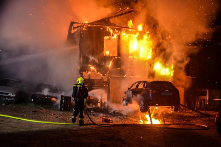 Feuerwehreinsatz bei Großbrand in Mooskirchen