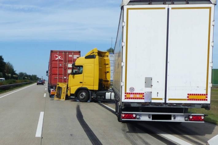 Unfallstelle auf der A27 bei Geestland