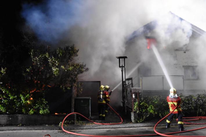 Brand eines Einfamilienhauses in Altstätten
