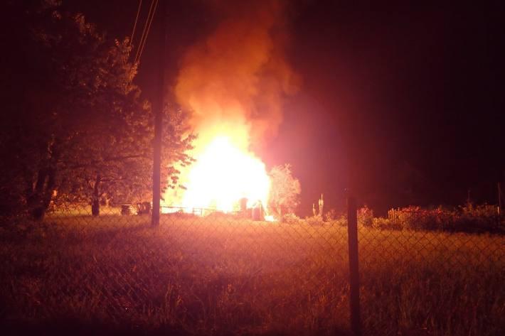 In Winterthur Seen brannte gestern ein Gartenhaus nieder.