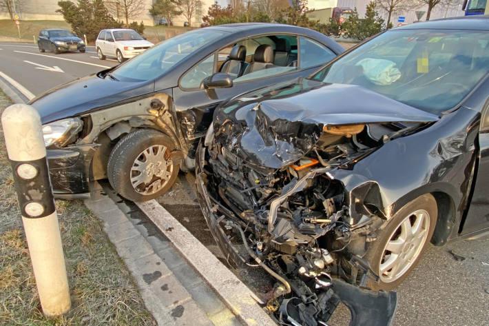 Zwei Verletzte bei Verkehrsunfall in Märstetten