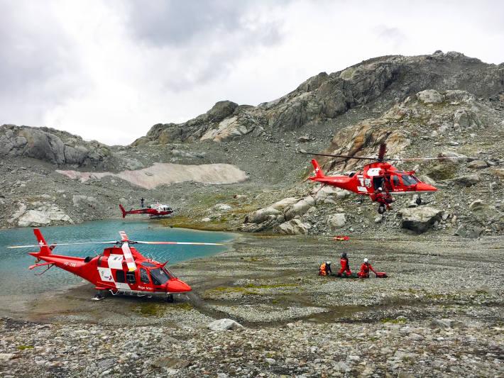 Drei Personen nach Sturz in Bergschrund gerettet