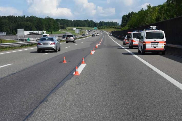 Für die Dauer der Unfallaufnahme musste die Einfahrt Uzwil kurzzeitig gesperrt werden