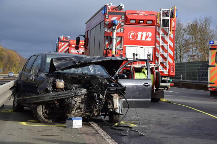 Heftiger Unfall auf der A46 bei Iserlohn