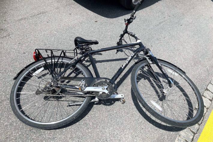 Am Unfall beteiligtes Fahrrad in Glarus