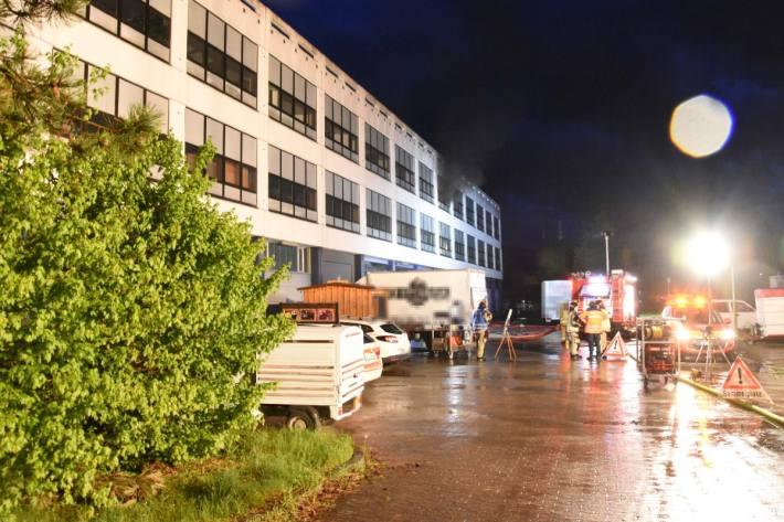 Grosser Sachschaden nach Brand in einem Container in Rheineck SG.