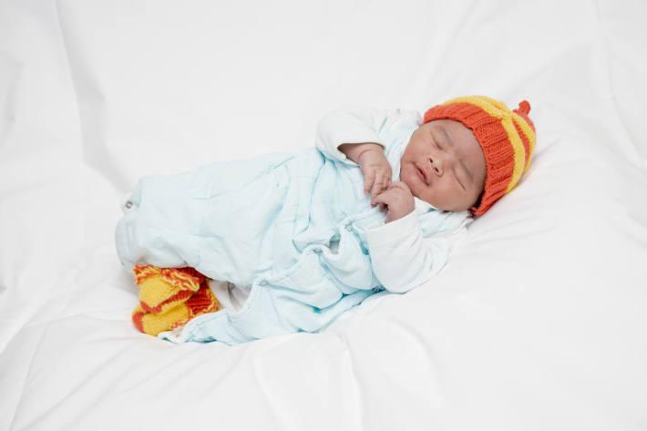 Neujahrsbaby Ayub ist um 0:10 Uhr im Triemli Hospital zu Welt gekommen