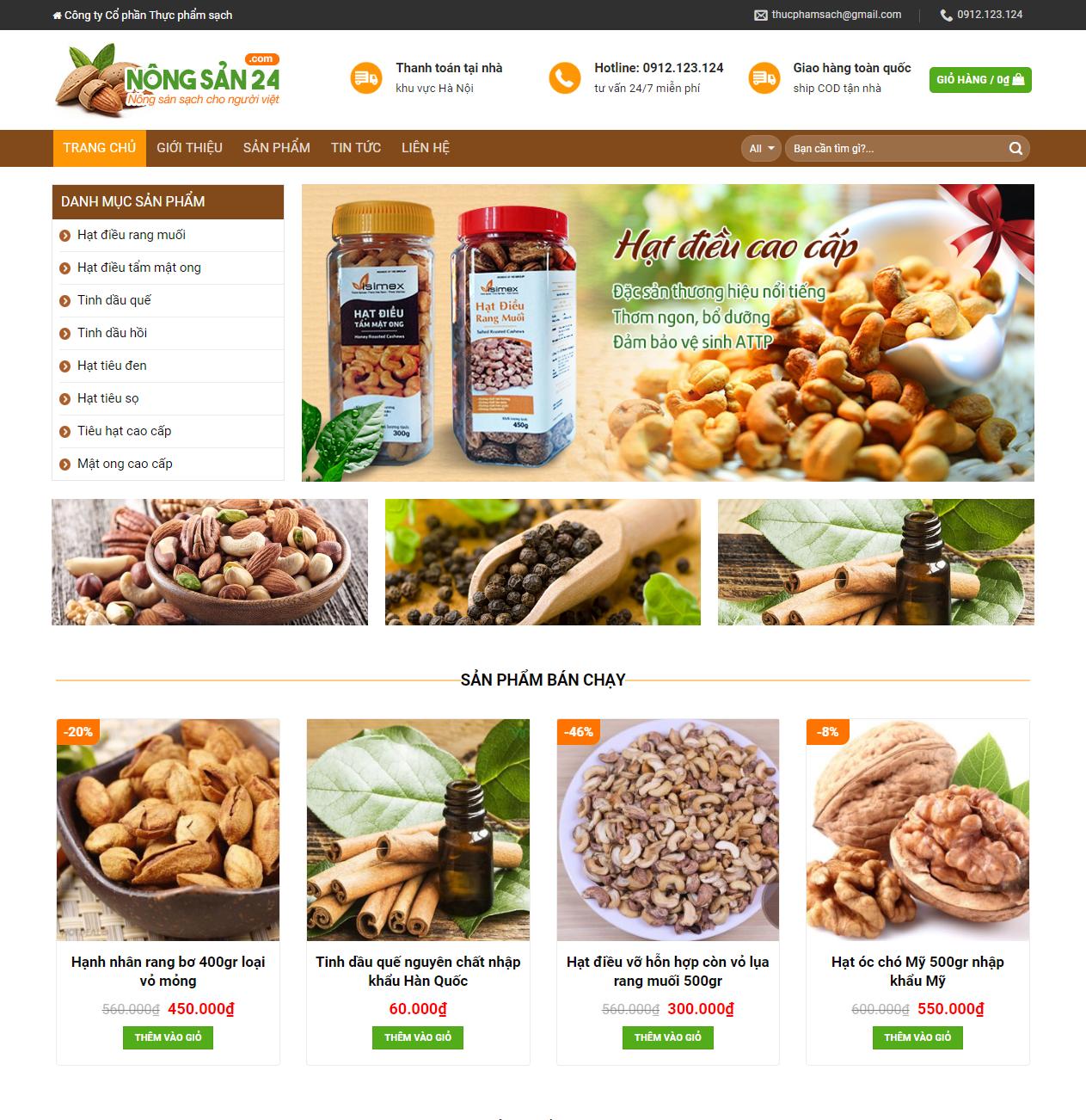 Mẫu web bán hàng nông sản thumbnail