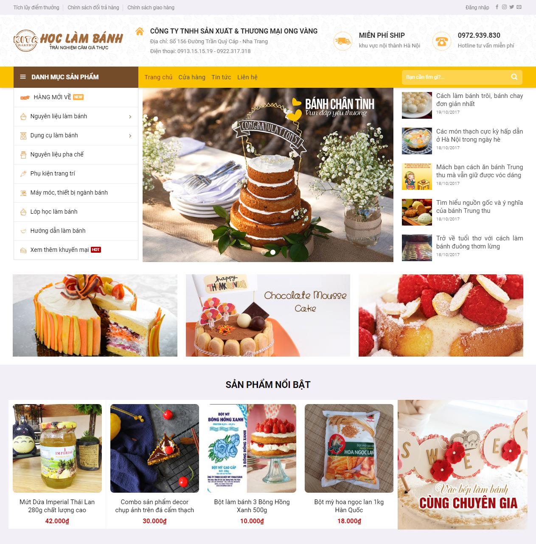 Thiết kế web học làm bánh 2018 thumbnail