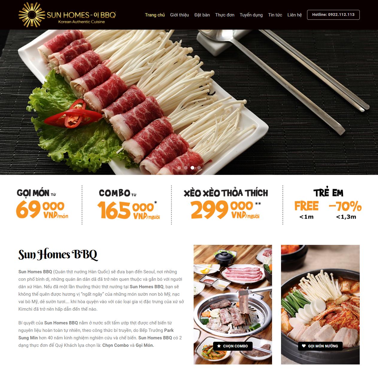 Thiết kế website nhà hàng thumbnail
