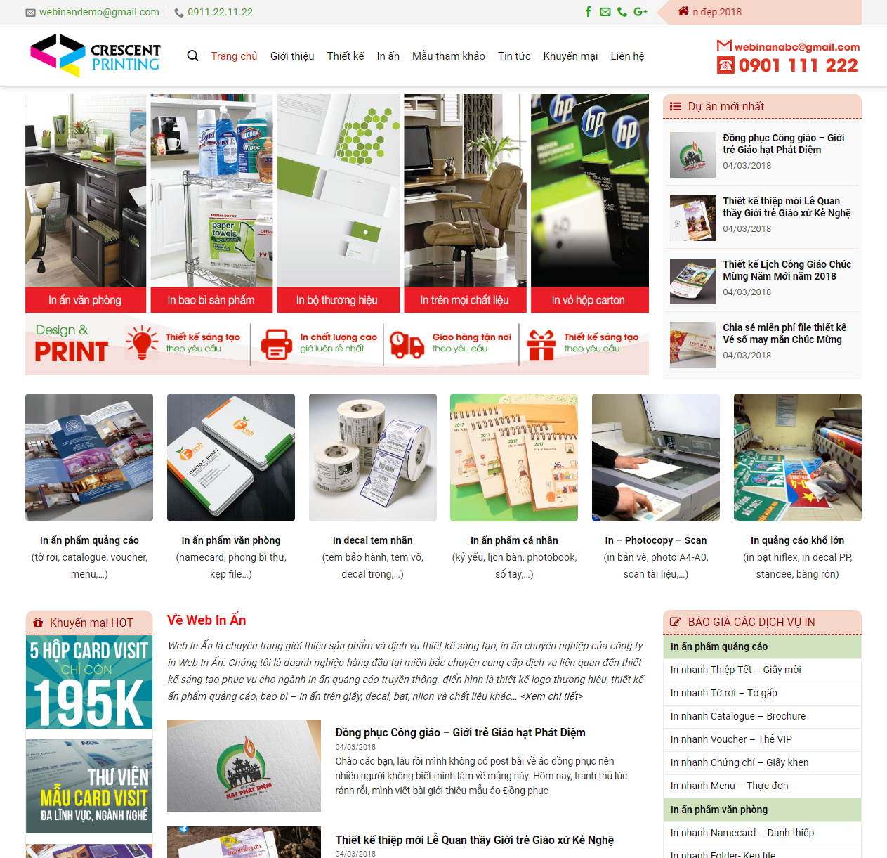 Mẫu web dịch vụ in ấn chuẩn seo thumbnail