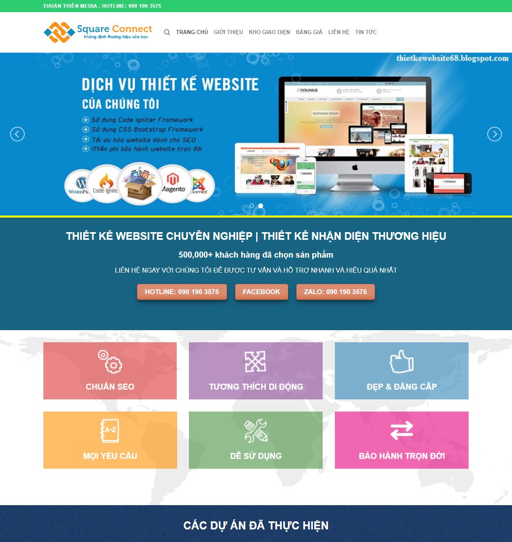 Dịch vụ thiết kế website wordpress thumbnail