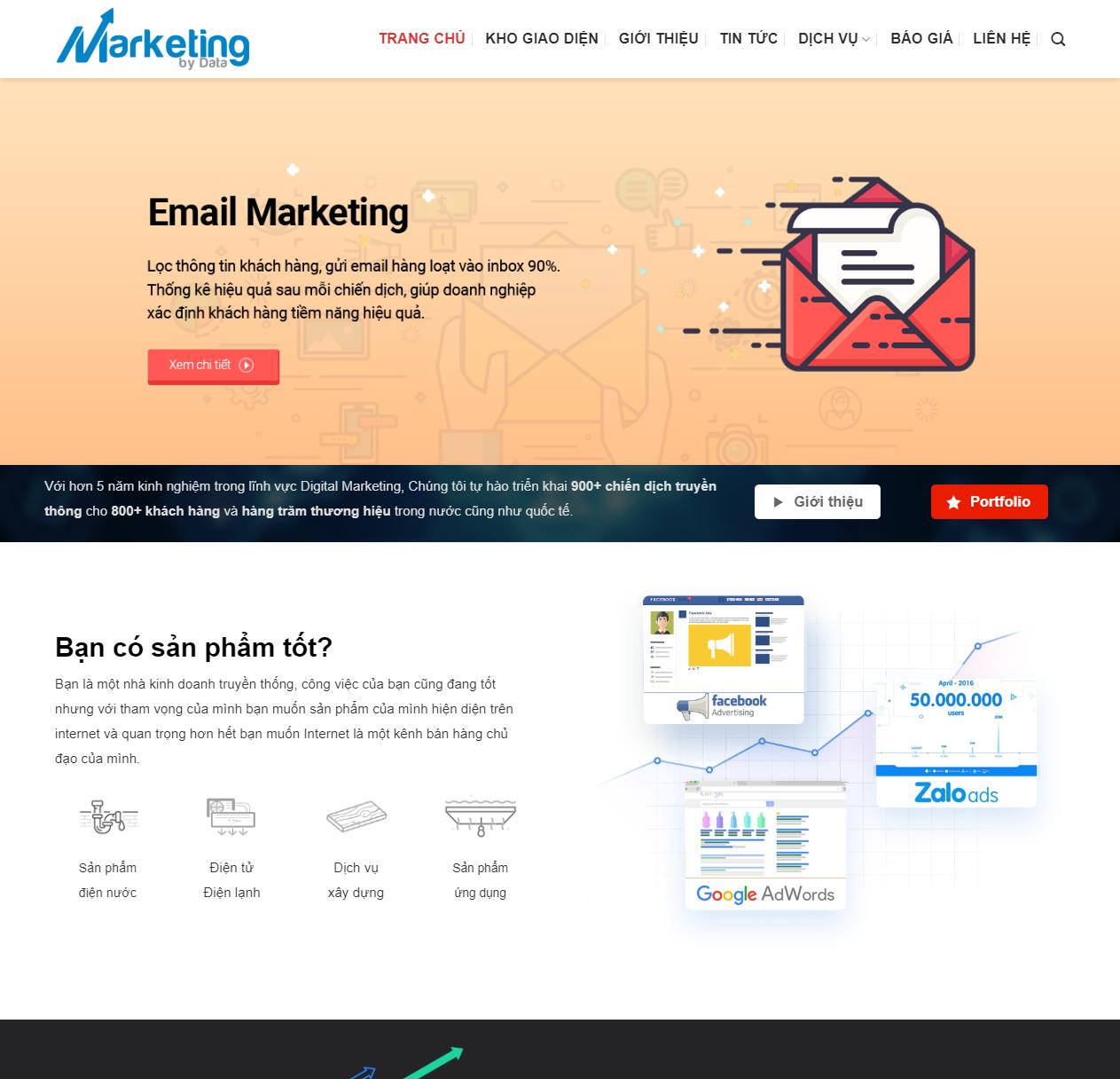 Thiết kế website dịch vụ marketing thumbnail