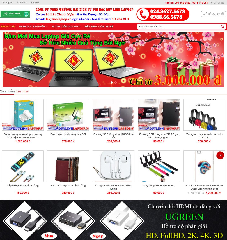 Thiết kế web phụ kiện công nghệ thumbnail