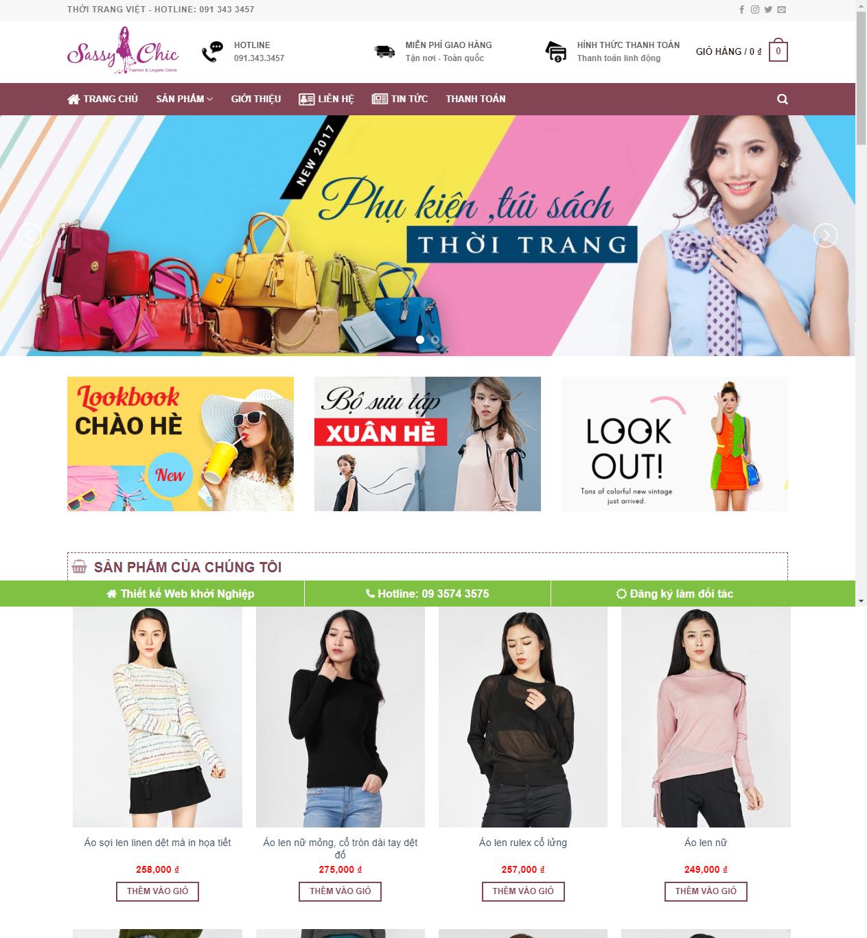 Mẫu web bán hàng quần áo thumbnail