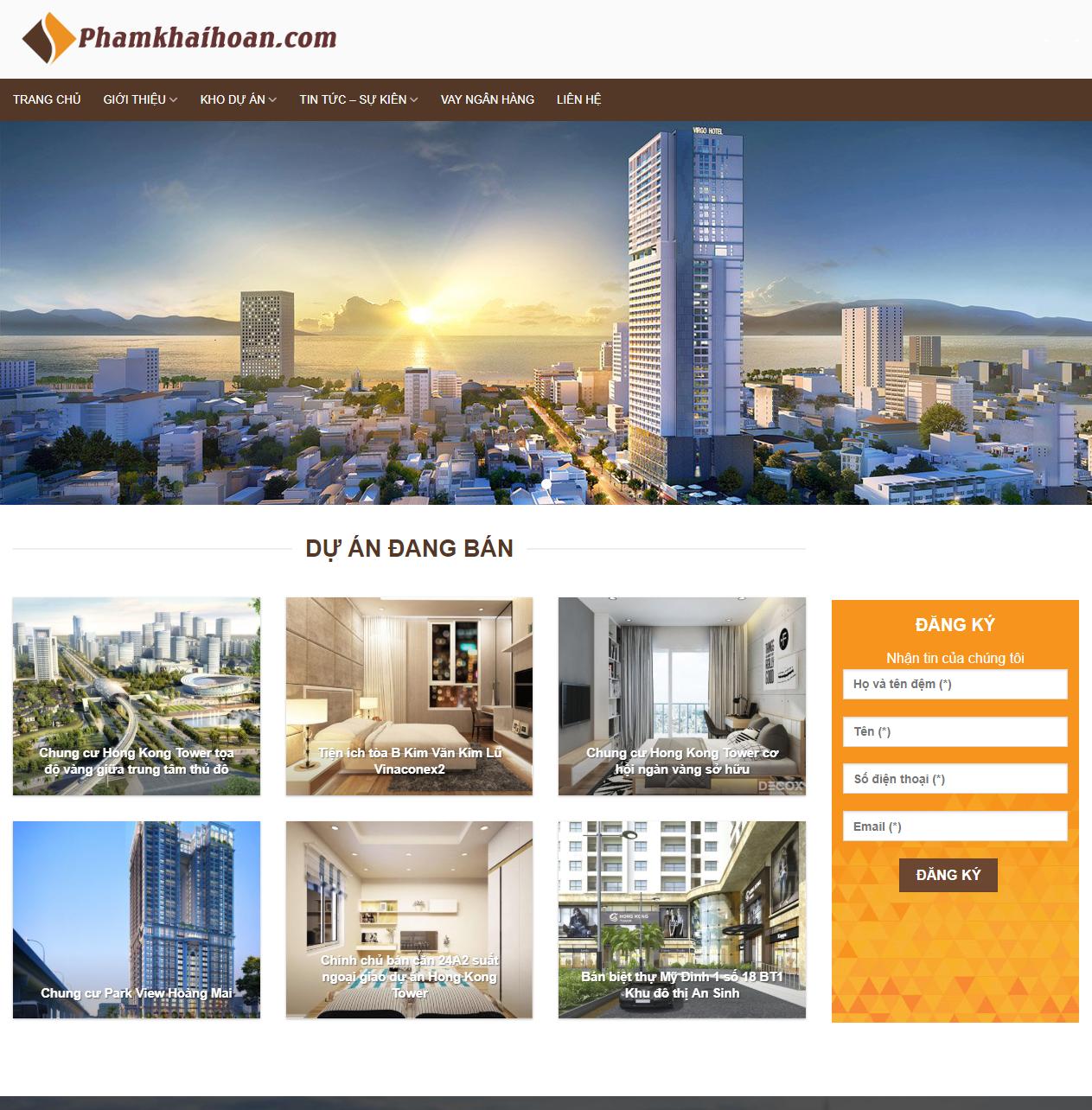 Mẫu web bất động sản nhà môi giới thumbnail