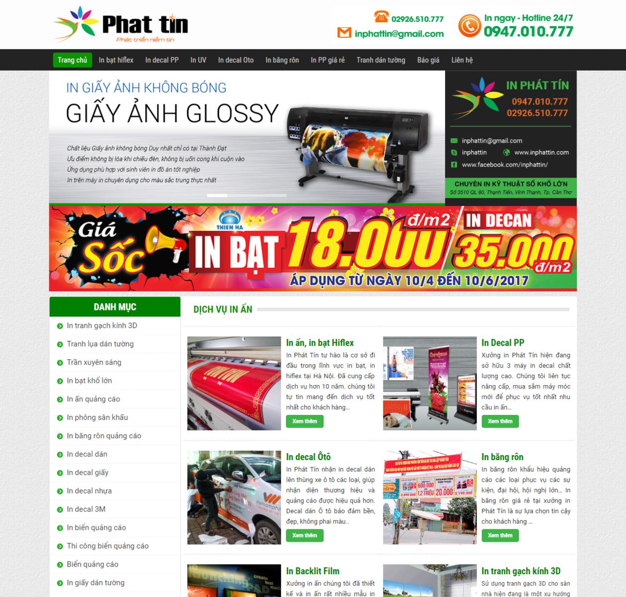 Mẫu giao diện web in ấn thumbnail