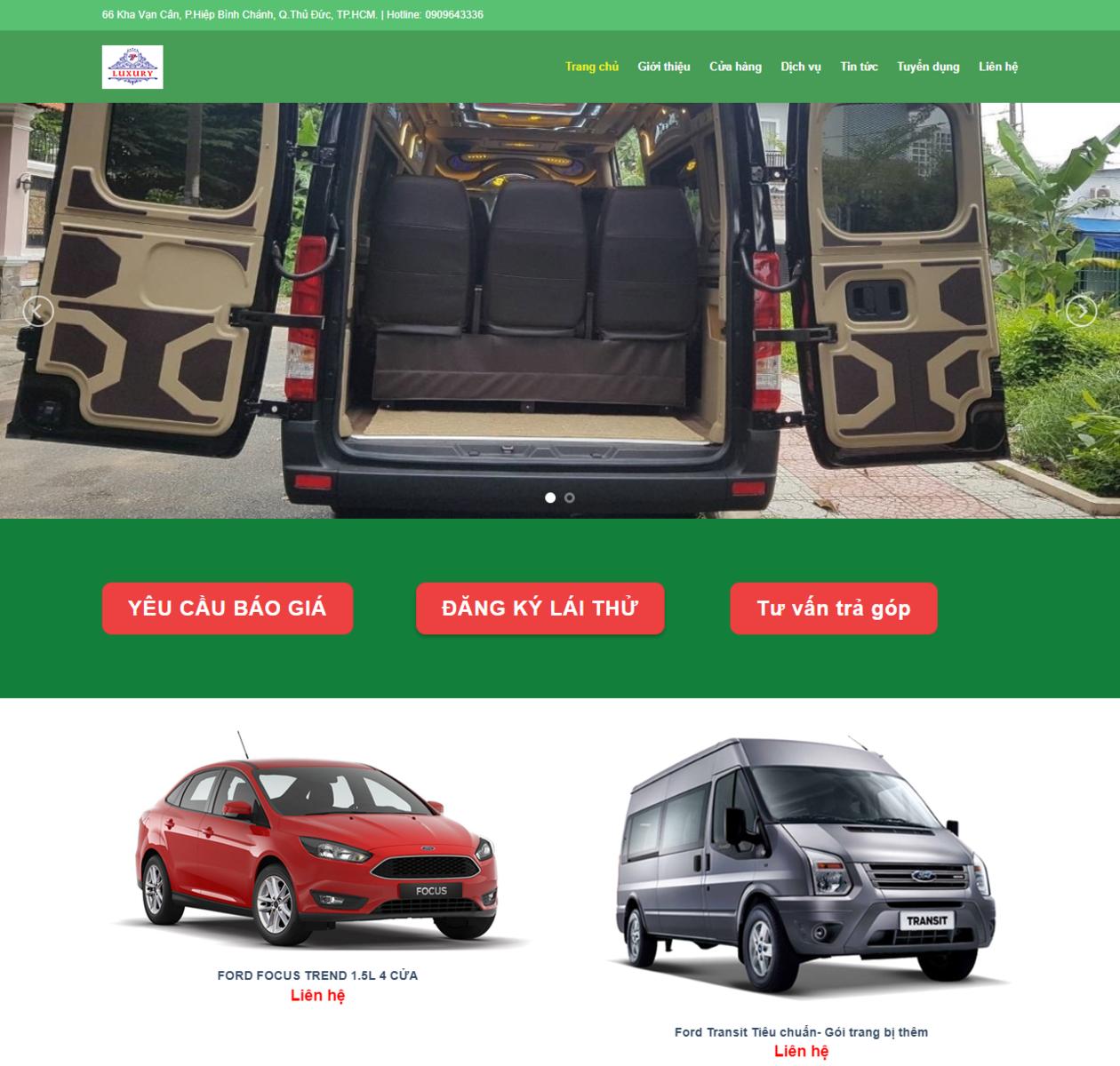 Mẫu web cho thuê xe luxury thumbnail