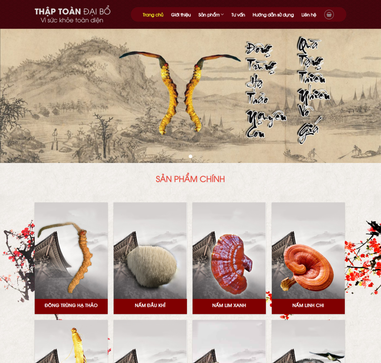 Mẫu website bán hàng nấm linh chi thumbnail