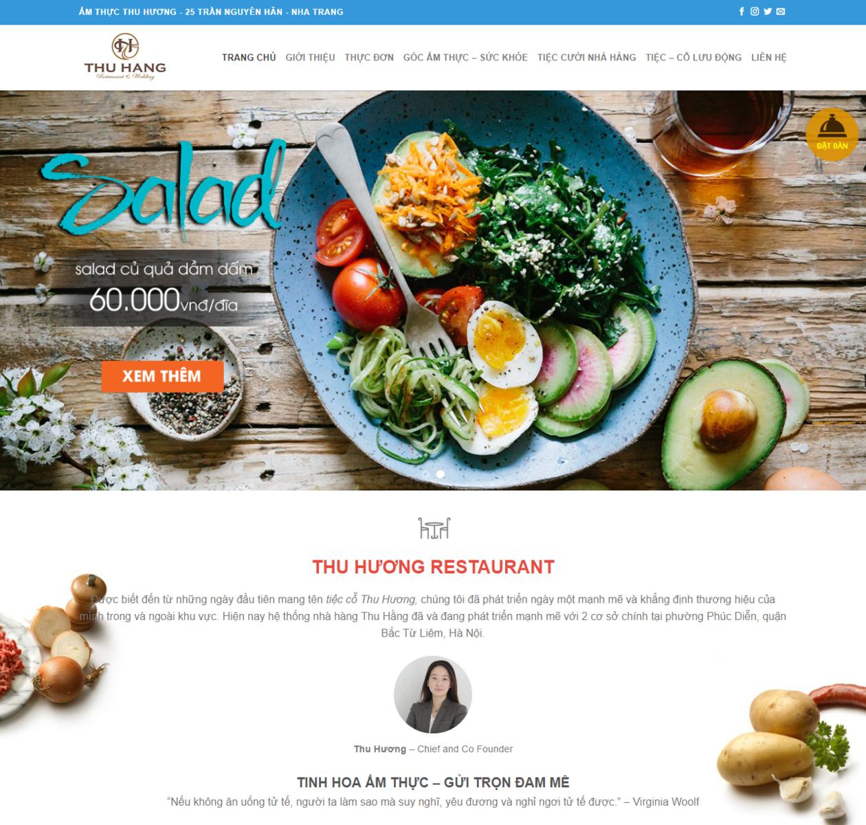 Thiết kế web thực phẩm nhà hàng thumbnail