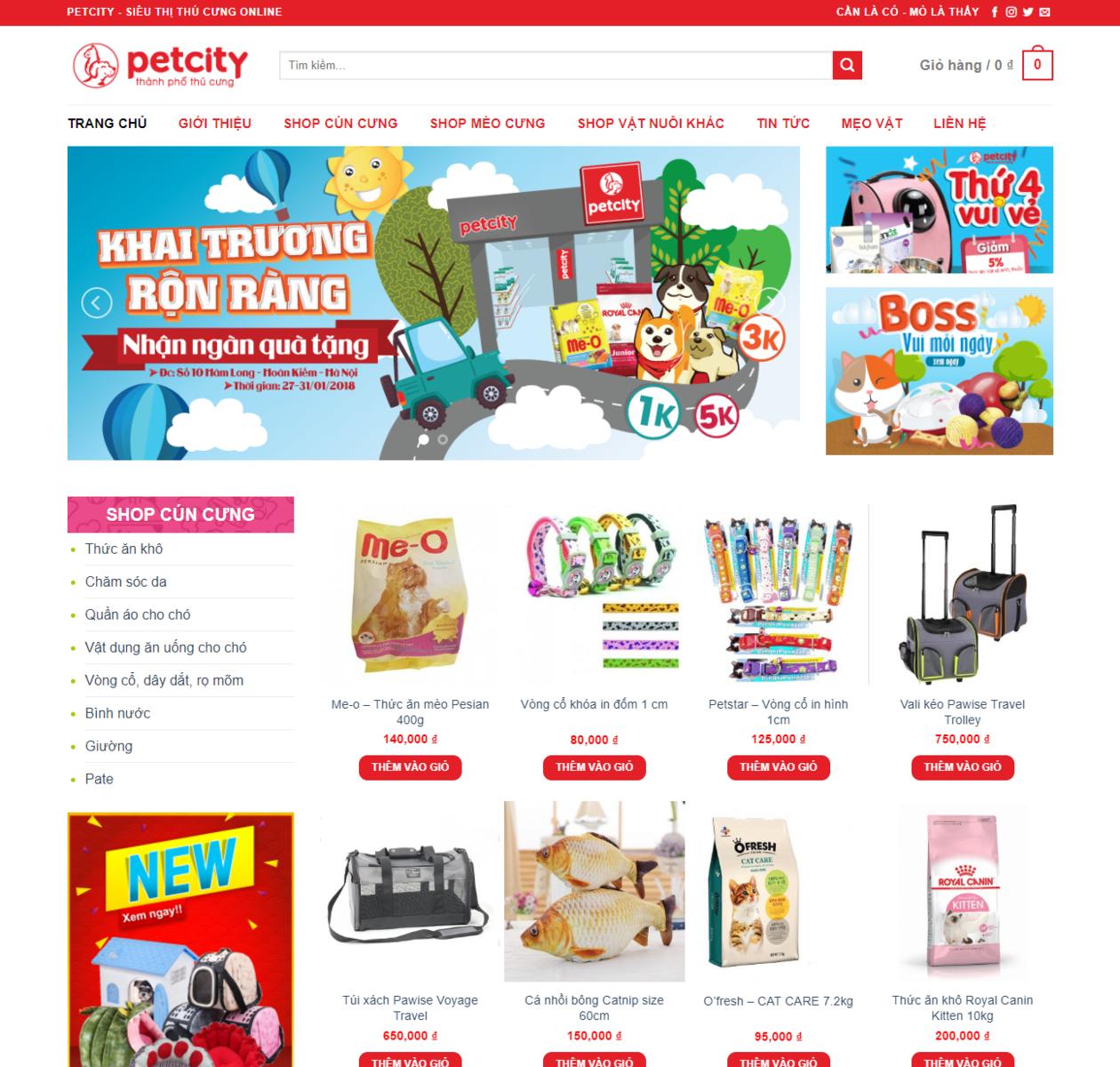 Mẫu web shop thú cưng thumbnail