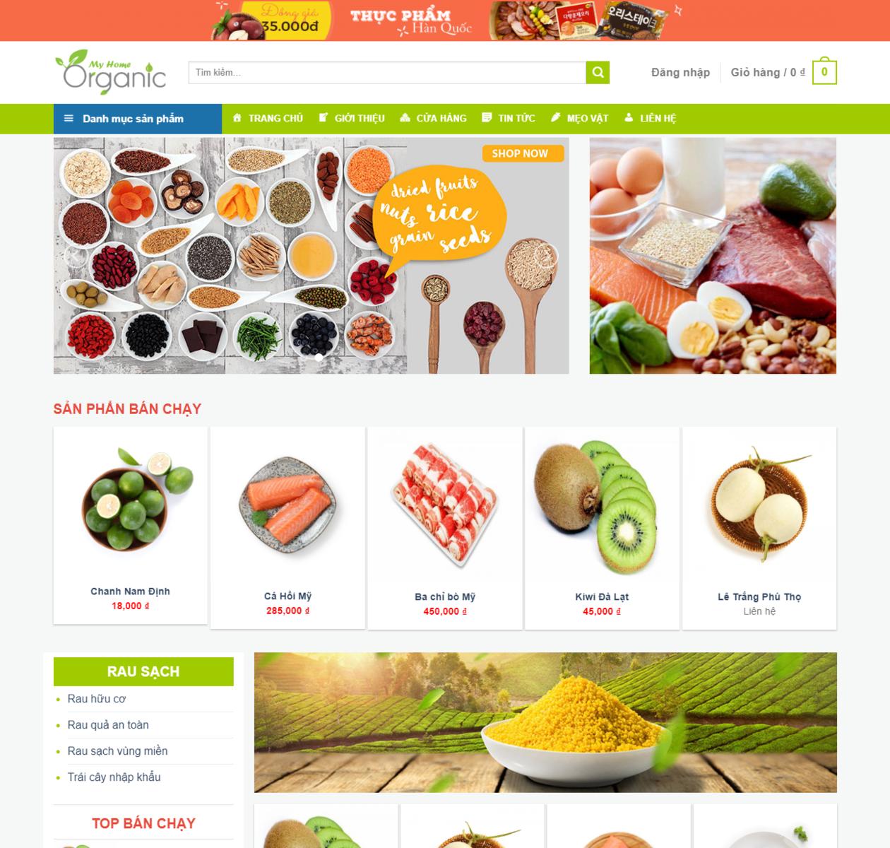 Mẫu web bán thực phẩm thumbnail