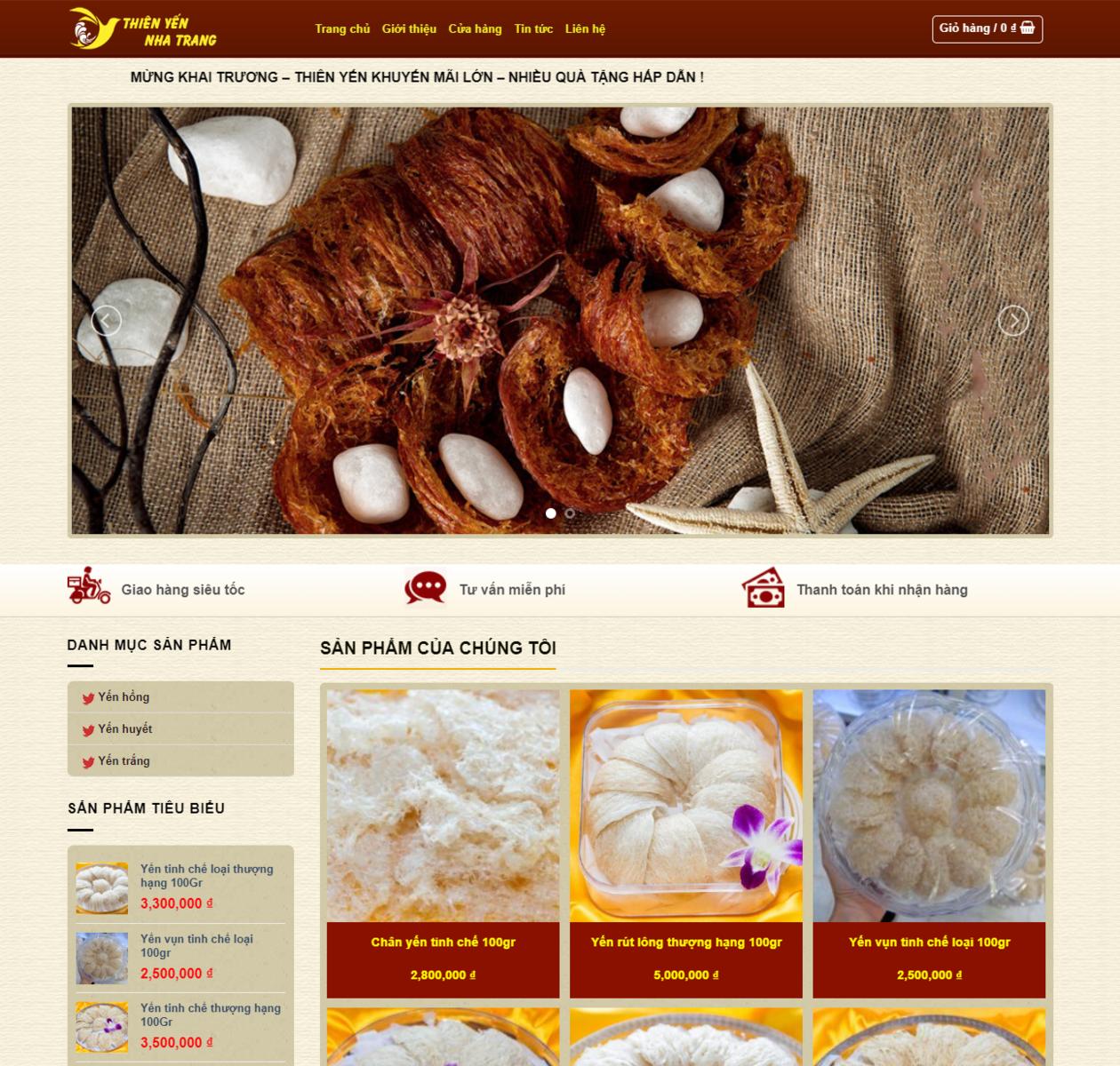Mẫu web yến sào nha trang thumbnail