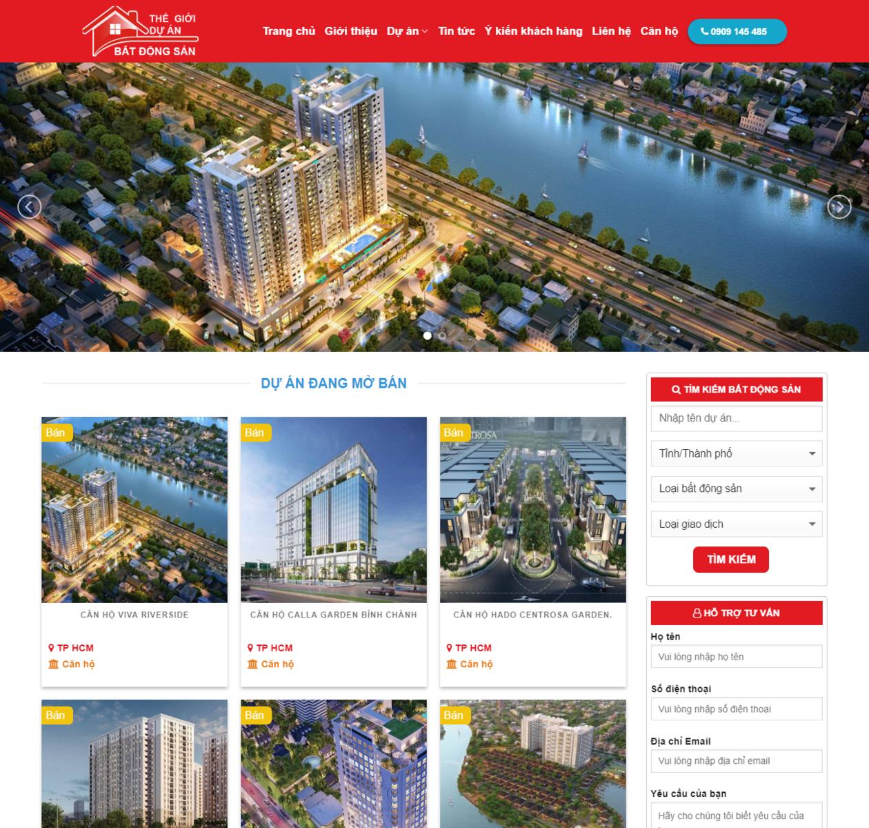 Mẫu website bất động sản đẹp thumbnail