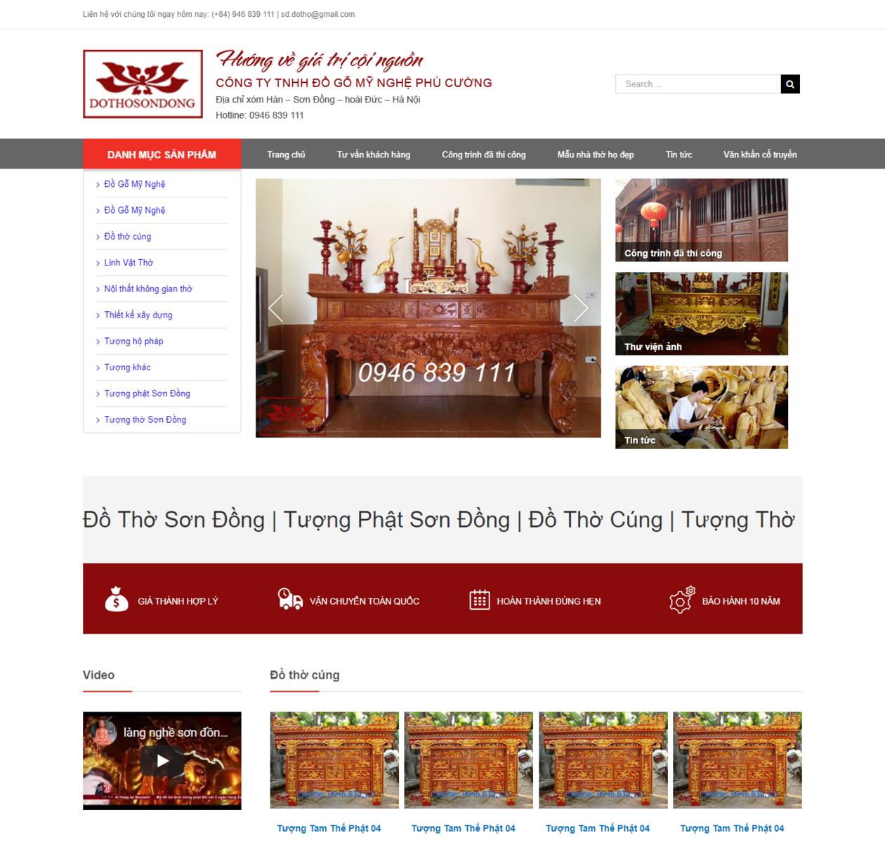 Mẫu web đồ thờ sơn đồng thumbnail