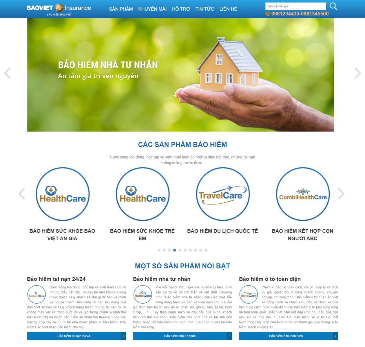 Mẫu web bán bảo hiểm thumbnail
