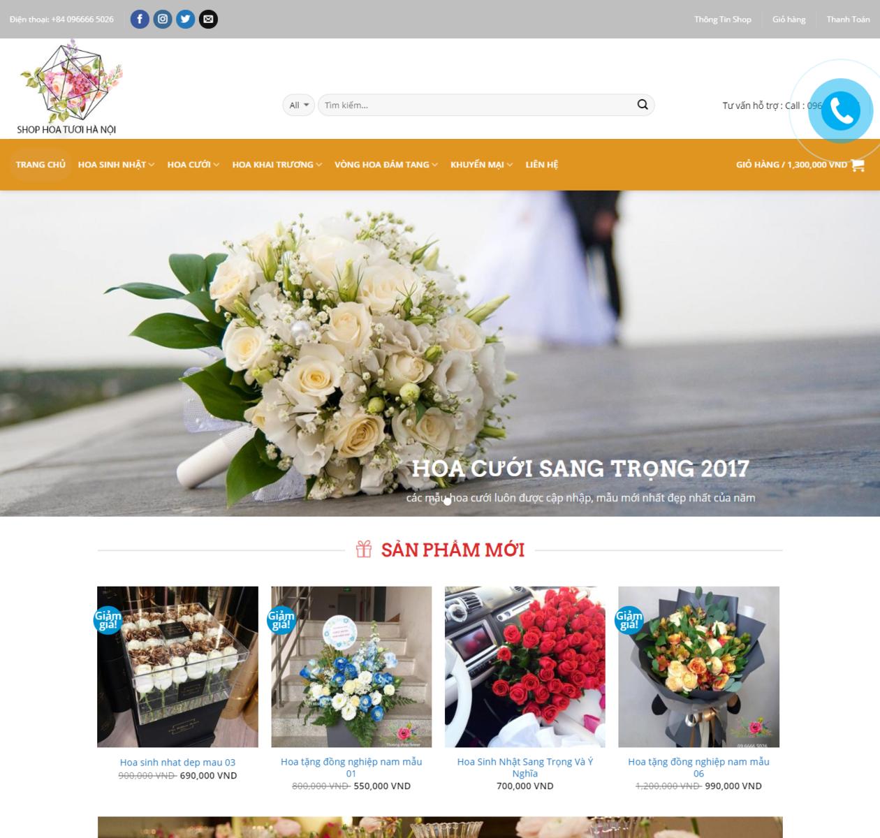 Mẫu web bán hoa tươi 24h thumbnail