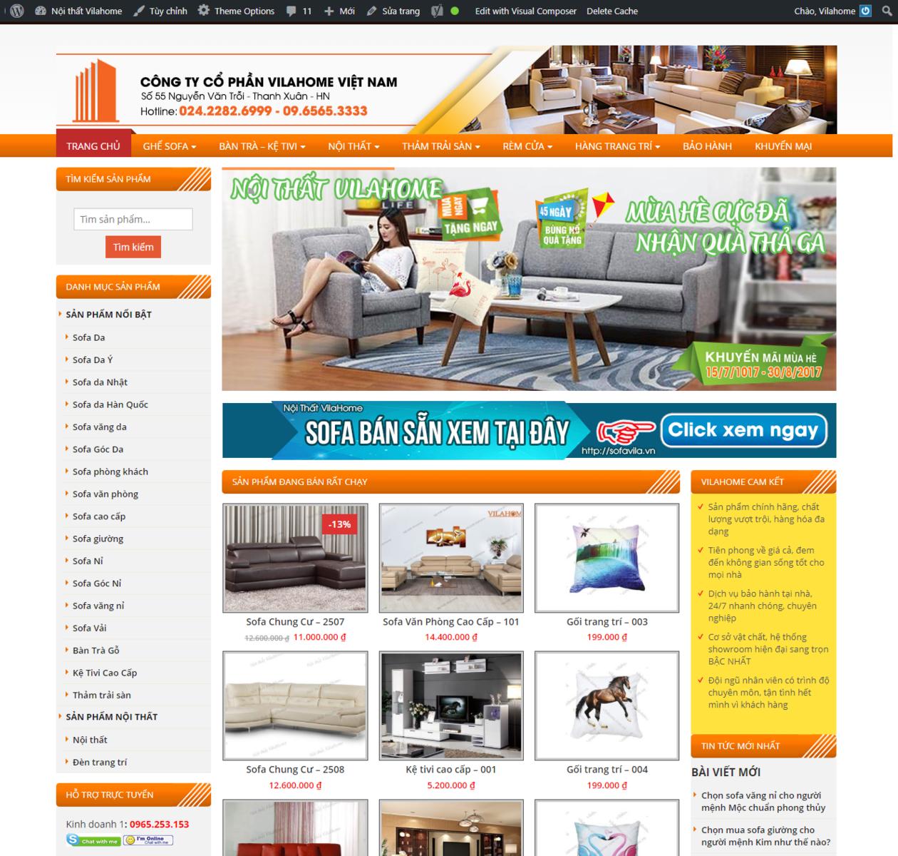 Thiết kế web nội thất Sofavila thumbnail