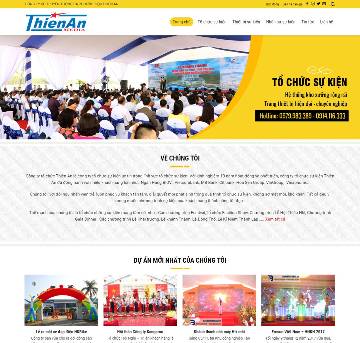 Mẫu web công ty truyền thông thumbnail
