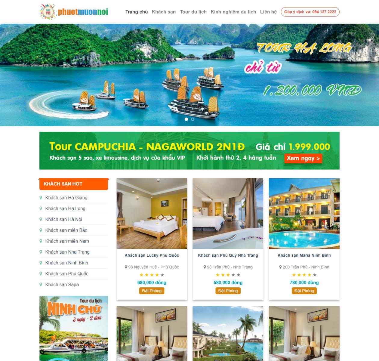 Mẫu web du lịch khách sạn thumbnail