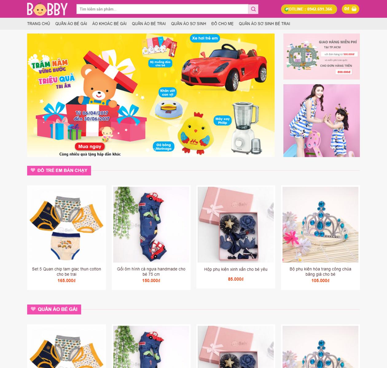 Web bán hàng Mẹ và bé thumbnail