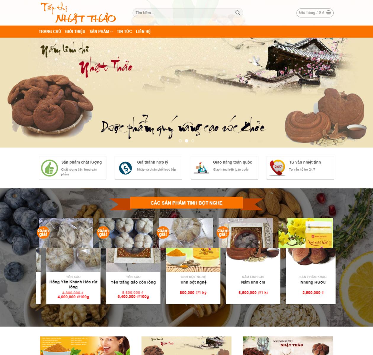 Thiết kế web bán hàng thảo dược thumbnail