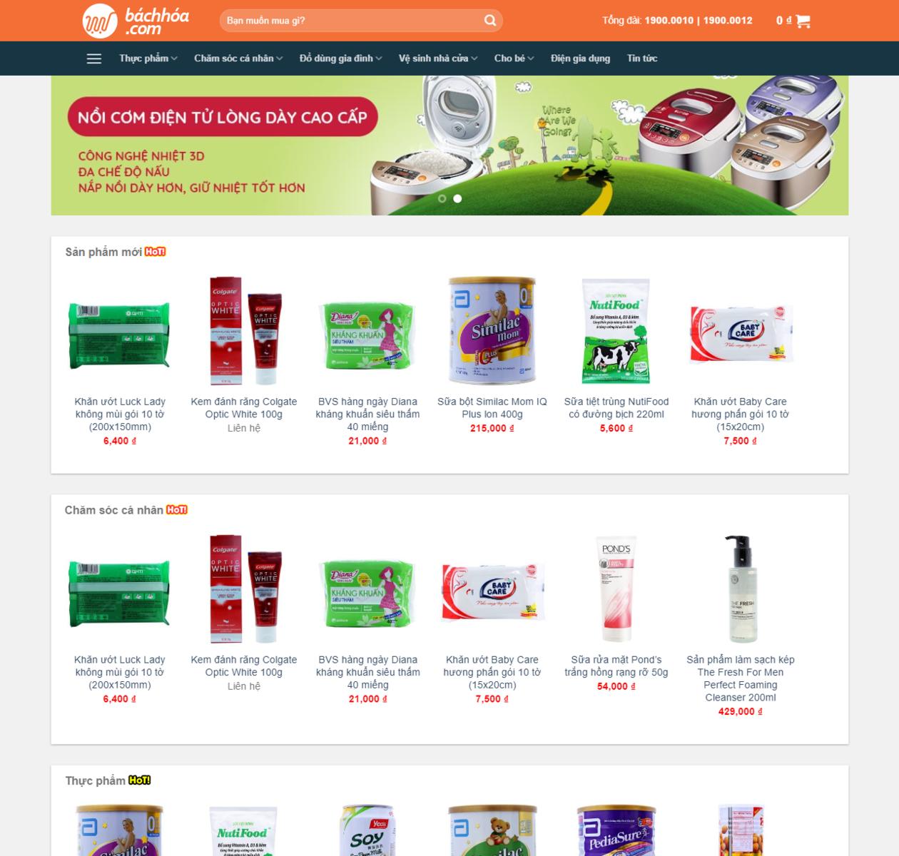 Mẫu web bán hàng bách hóa thumbnail