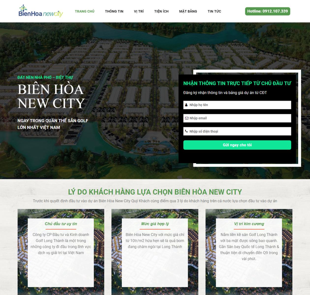 Mẫu web dự án bất động sản thumbnail